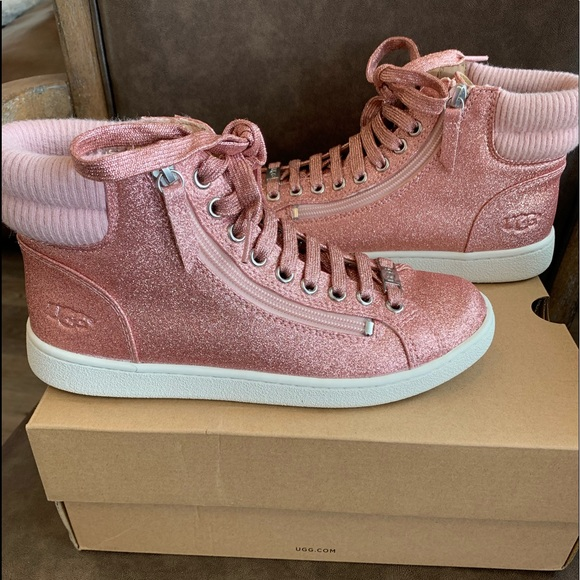 UGG Shoes   Olive Glitter Sneakers Pink